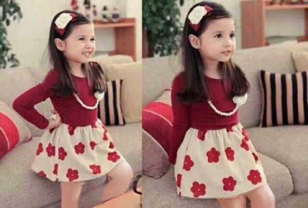 "Baju Dress Pesta Anak Perempuan Lucu & Murah ""Kids Dress Bunga"""