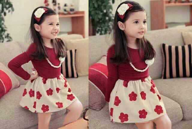 "Baju Dress Pesta Anak Perempuan Lucu & Murah ""Kids Dress Bunga"""
