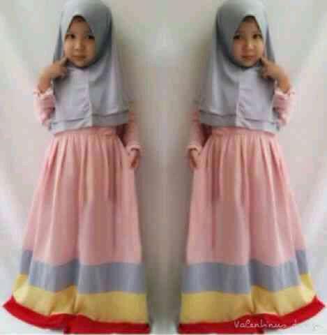 """Baju Muslim Anak Perempuan Murah """"Hijab Kids Raindow"""""""