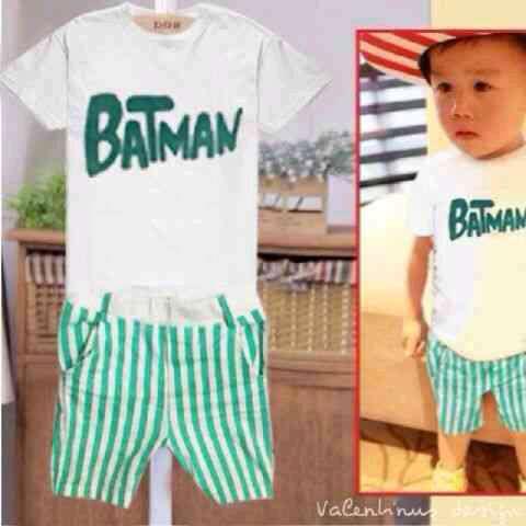 """Baju Setelan Untuk Anak Laki-laki Model Terbaru & Murah """"Batman"""""""