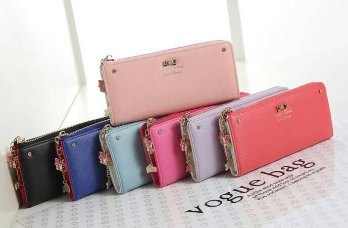 dompet wanita import korea model terbaru zipper wallet