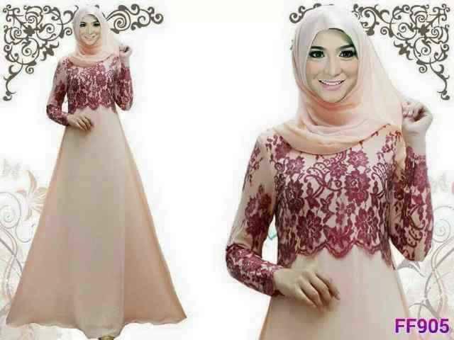 """Gamis Muslim Cantik Model Terbaru """"Aluna Set"""""""