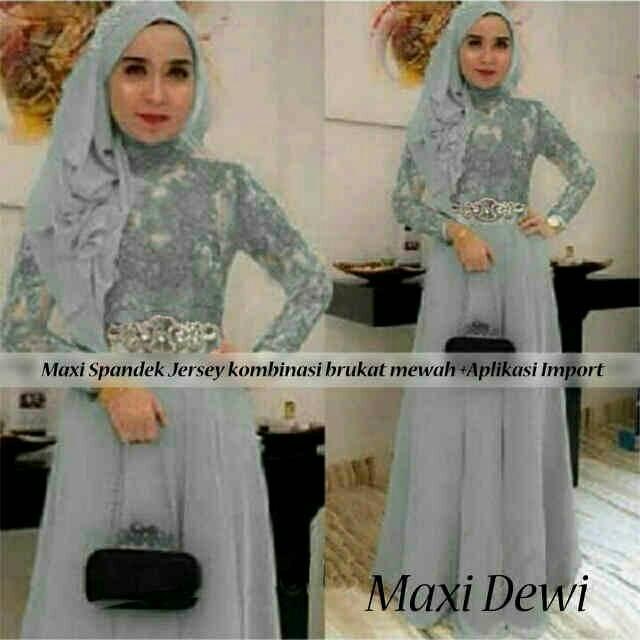 Long Dress Kebaya Hijab Modern Murah Maxi Dewi