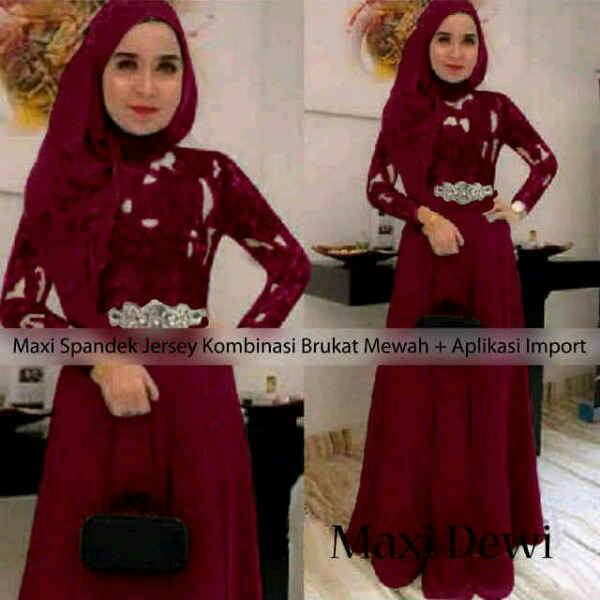 "Long Dress Kebaya Hijab Modern & Murah ""Maxi Dewi"""