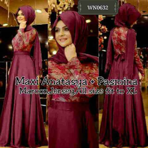 "Baju Long Dress Muslim Terbaru ""Maxi Anastasya"""