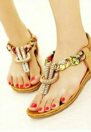 Sandal Teplek Wanita Terbaru Japit Kepang