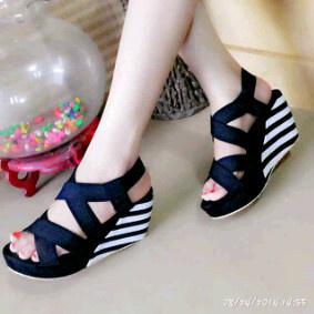 Sandal Wedges Belang Cantik Model Terbaru & Murah