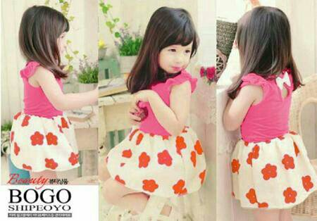 Baju Dress Anak Perempuan Model Terbaru Warna Pink Lucu & Murah