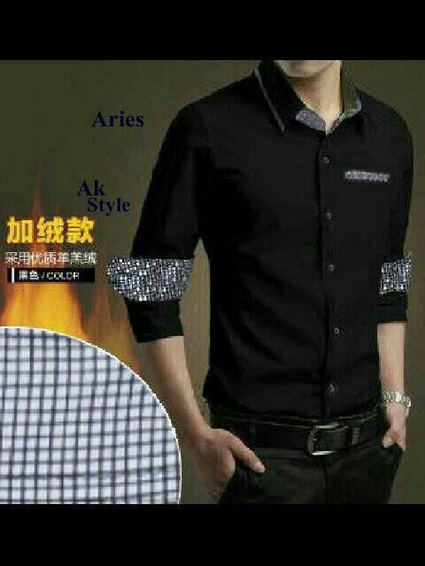 Baju Kemeja Pria Hitam Keren Model Terbaru & Murah