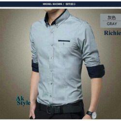 Baju Kemeja Pria Keren Model Terbaru Lengan Panjang