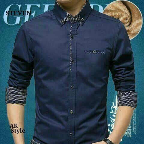 Baju Kemeja Pria Lengan Panjang Modern Model Terbaru Amp Murah