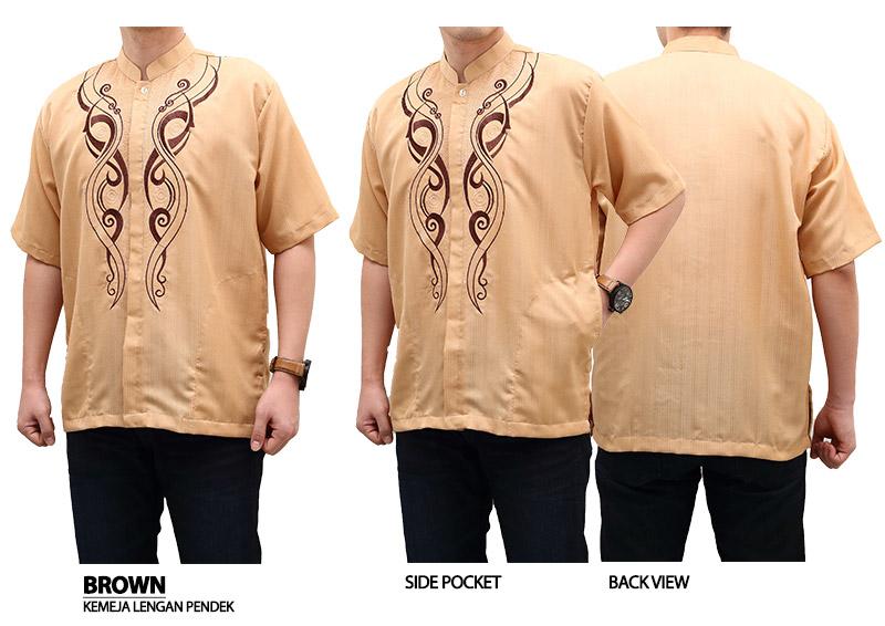 Baju Koko - Kemeja Muslim Ramadhan Coklat
