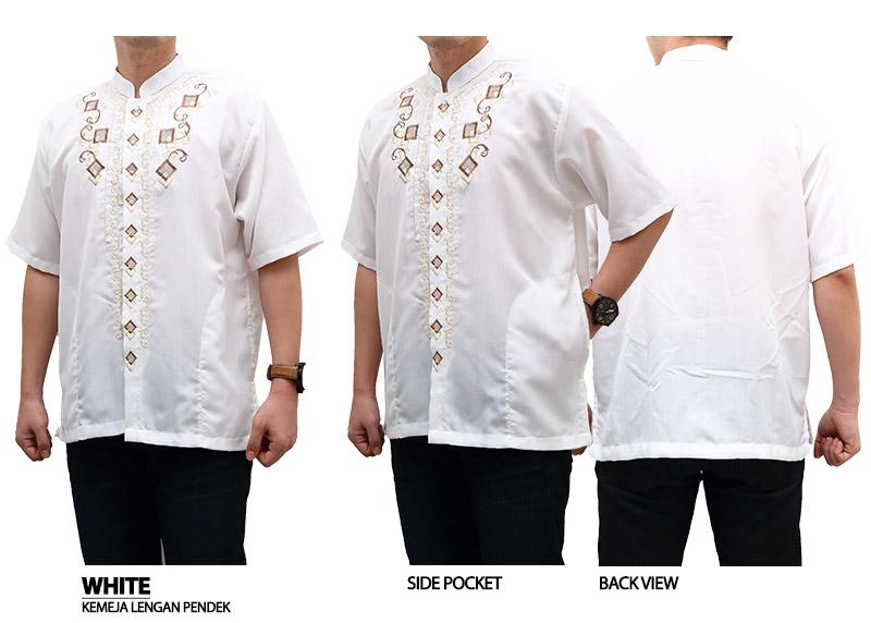 Baju Koko - Kemeja Muslim Ramadhan Putih