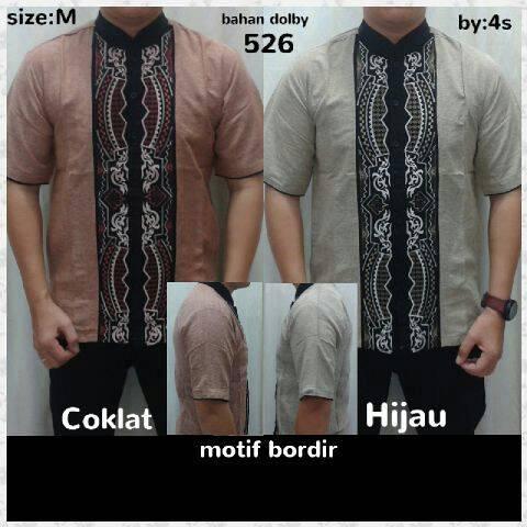 Baju Koko Muslim Lengan Pendek Untuk Pria Model Terbaru & Murah