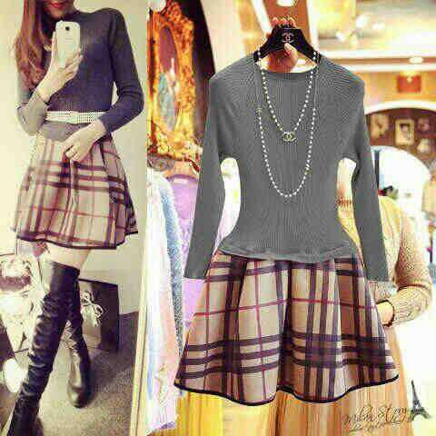 Baju Mini Dress Lengan Panjang Cantik Model Terbaru & Murah