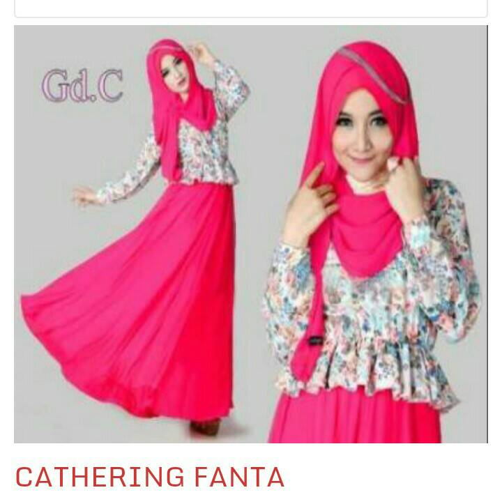 "Baju Muslim Long Dress Wanita Modern & Murah ""Cathering"""