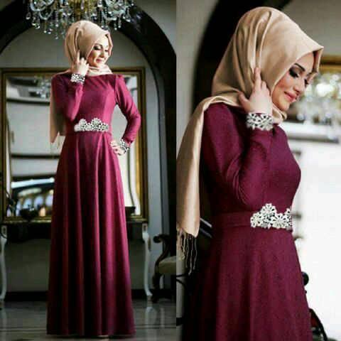 "Gaun Busana Muslim Cantik Modern Model Terbaru ""Hijab Putri"""