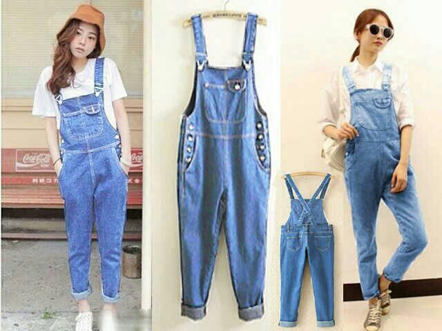 Jumpsuit Jeans Panjang Model Terbaru Keren Lucu & Murah