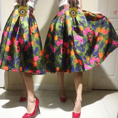 Rok Skirt Pendek Wanita Import Korea Model Terbaru Motif Bunga