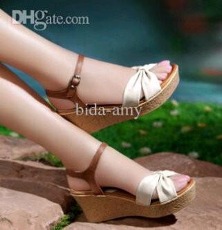 Sandal Wedges Cantik Bertali & Pita Model Terbaru & Murah