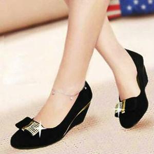 Sepatu Kerja Wedges Pantofel Diamond Wanita Model Terbaru & Murah