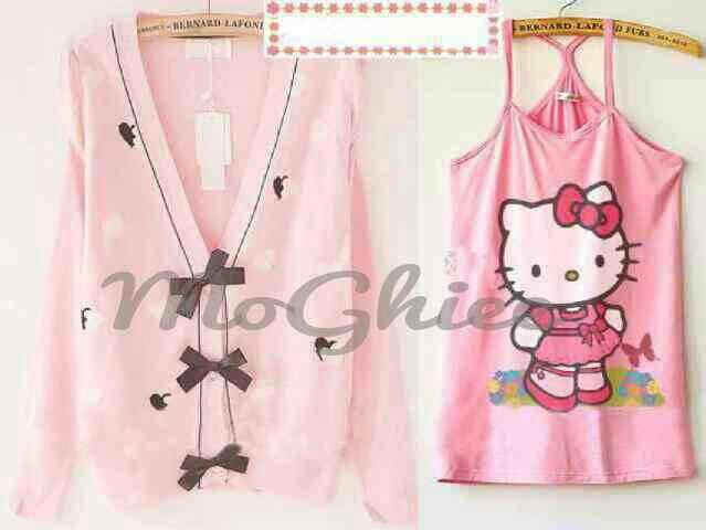 Sweater Kity Wanita Cantik Model Terbaru & Murah Warna Pink
