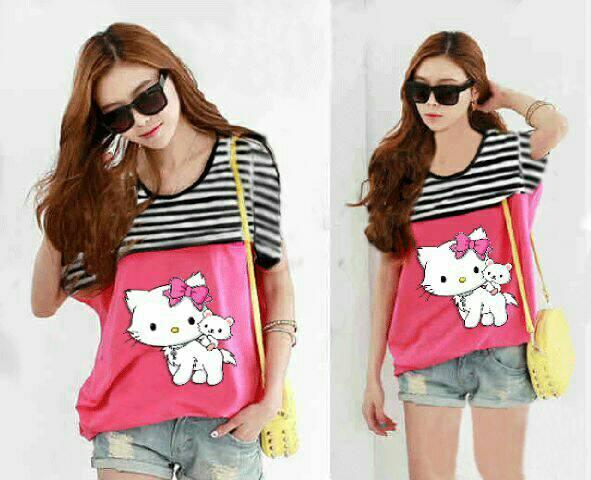 Baju Atasan Wanita Blouse Kitty Cantik Model Terbaru & Murah