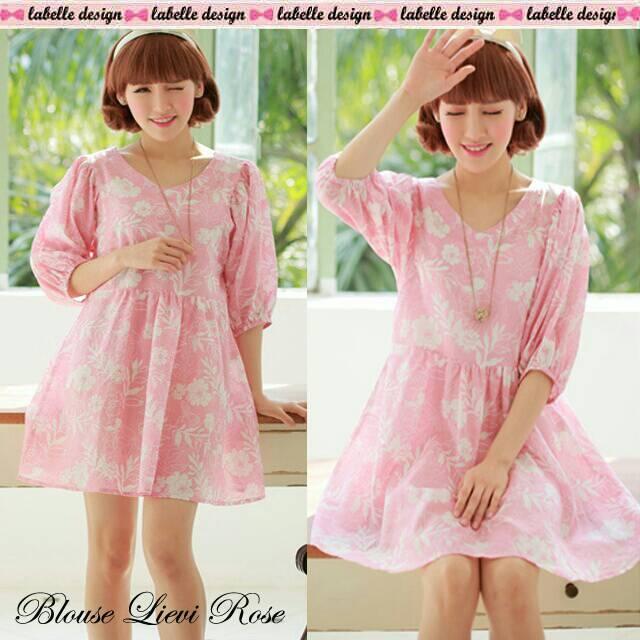 Baju Atasan Wanita Pink Cantik Model Terbaru & Murah