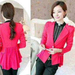 Baju Blazer Pink Wanita Korea Cantik Model Terbaru & Murah