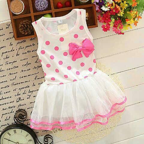 Baju Dress Anak Perempuan Pita Lucu Model Terbaru & Murah