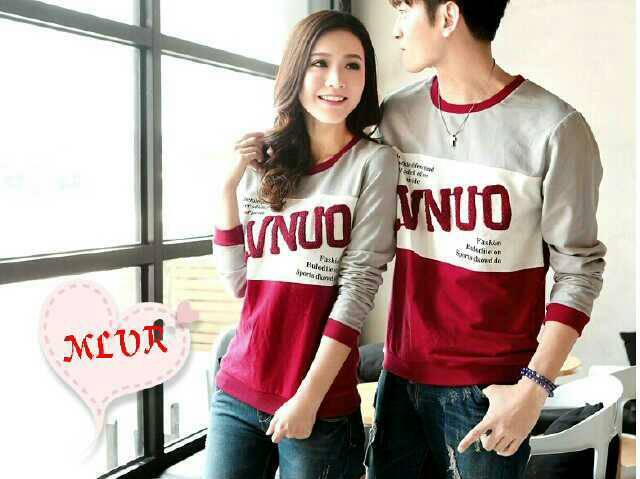 Baju Kaos Lengan Panjang Couple Model Terbaru & Murah