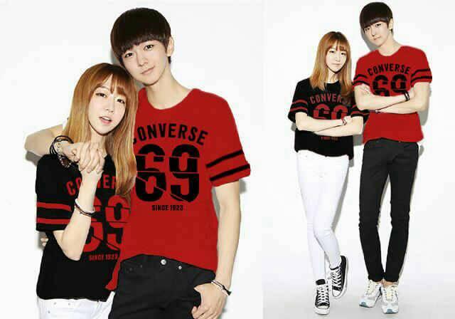 """Baju Kaos Pendek """"Converse"""" Couple Model Terbaru & Murah"""