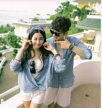 Baju Kemeja Couple Lengan Panjang Model Terbaru & Murah