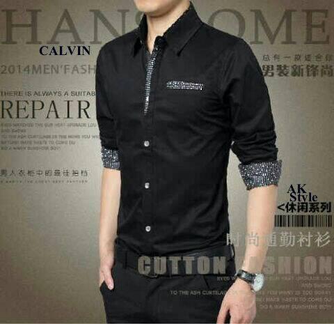 Baju Kemeja Hitam Pria Keren Model Terbaru & Murah