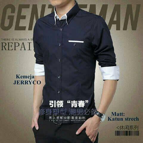 Baju Kemeja Kerja Pria Lengan Panjang Model Terbaru & Murah