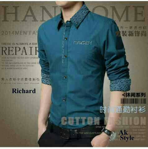 Baju Kemeja Pria Kerja Keren Model Terbaru Slim & Murah