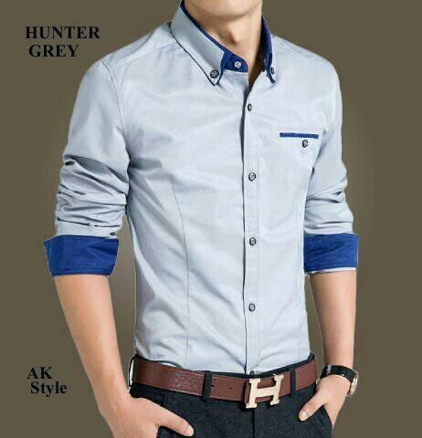 Baju Kemeja Pria Lengan Panjang Keren Model Terbaru & Murah