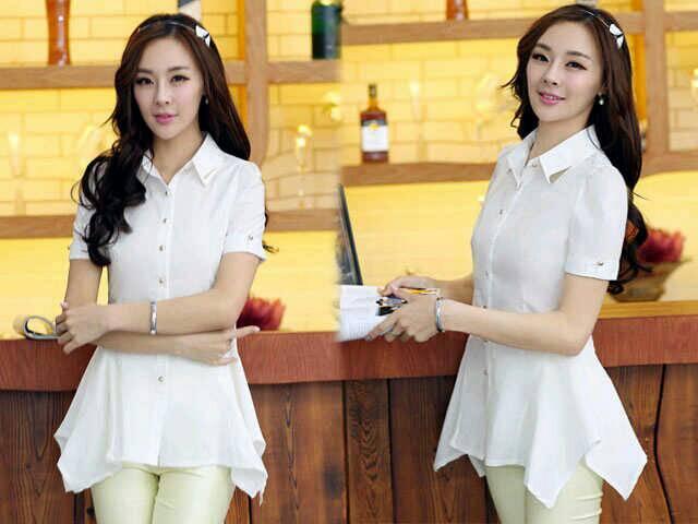 Baju Kemeja Wanita Lengan Pendek Cantik Model Terbaru & Murah
