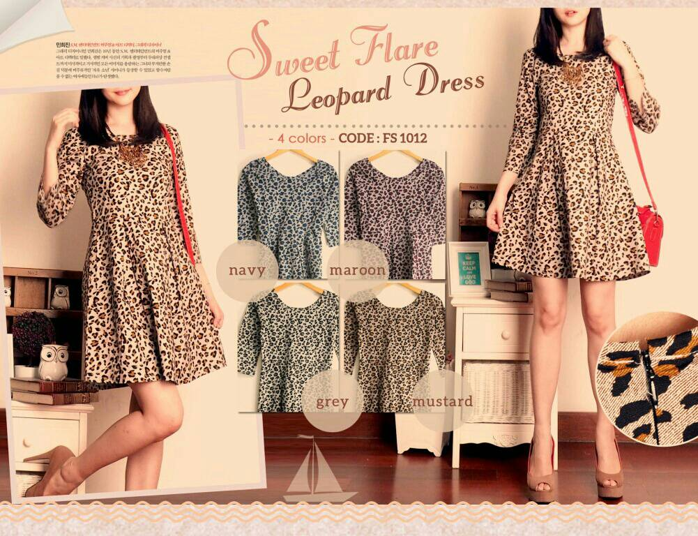 Baju Mini Dress Motif Cantik Modis Model Terbaru & Murah