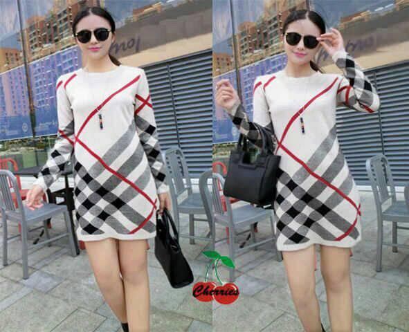 Baju Mini Dress Pendek Lengan Panjang Cantik Terbaru & Murah