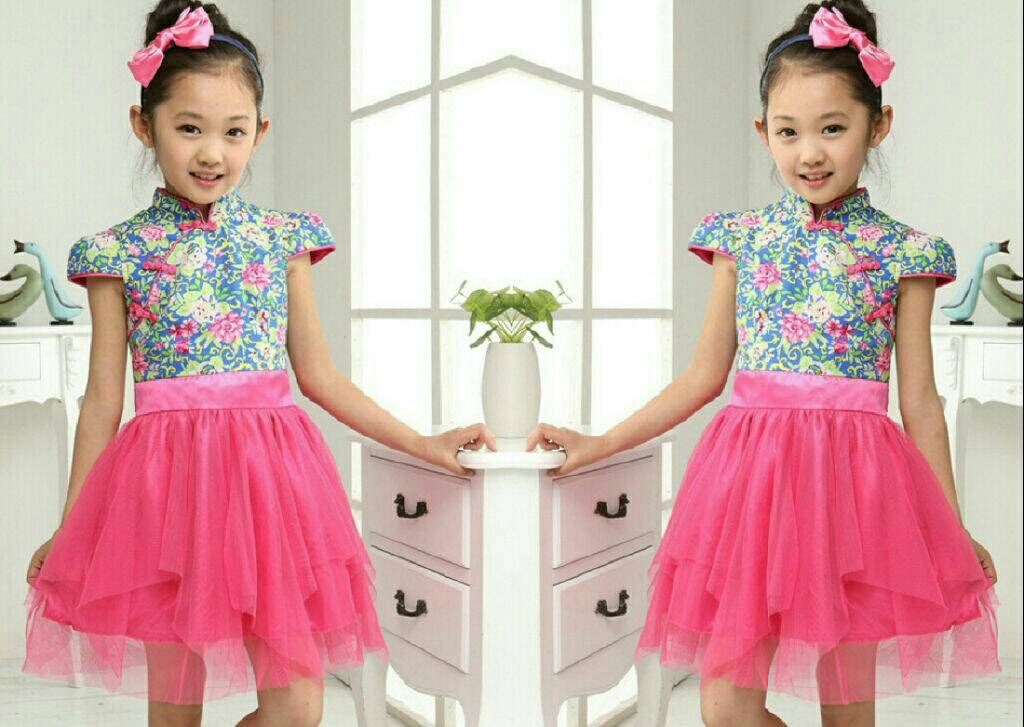"Baju Setelan Dress Anak Perempuan ""Princess Shanghai"" Cantik Model Terbaru & Murah"