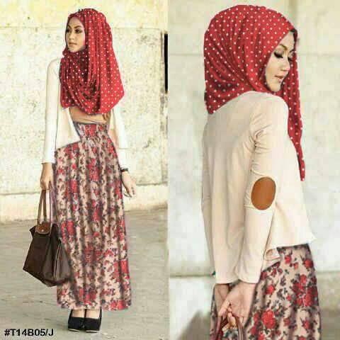 Baju Setelan Long Dress Hijab Muslim Cantik Model Terbaru & Murah