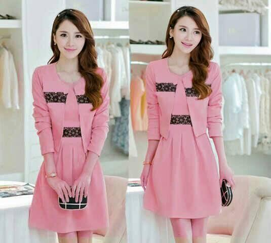 Baju Setelan Mini Dress & Blazer Cantik Terbaru & Murah