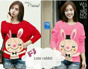 "Baju Sweater Rajut Lucu ""Cute Rabbit"" Model terbaru & Murah"