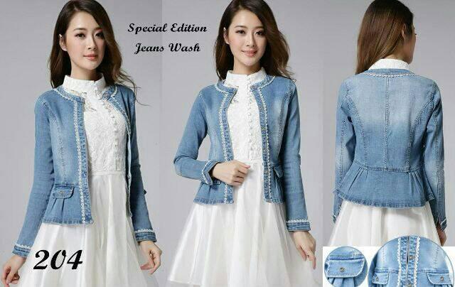 Blazer Jeans Wanita Cantik Modern Model Terbaru & Murah