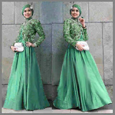 Busana Gamis Long Dress Muslim Maxi Stefany Modern Model Terbaru Murah