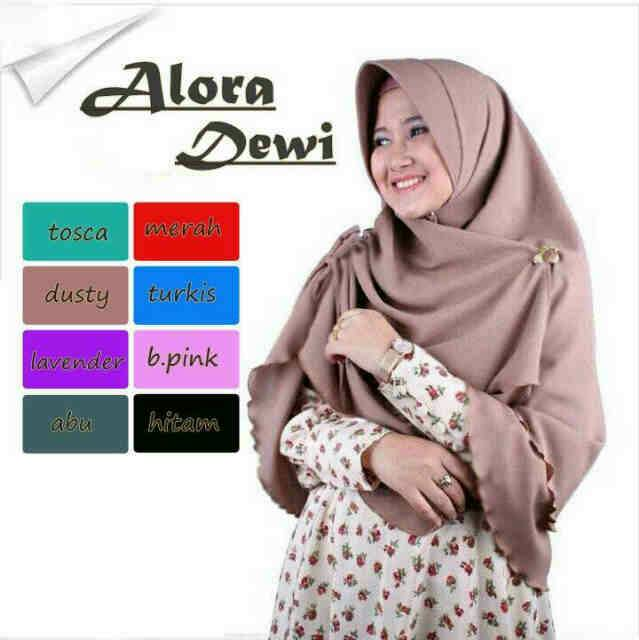Jilbab Bergo Sifon Syar I Alora Dewi Cantik Model Terbaru Murah