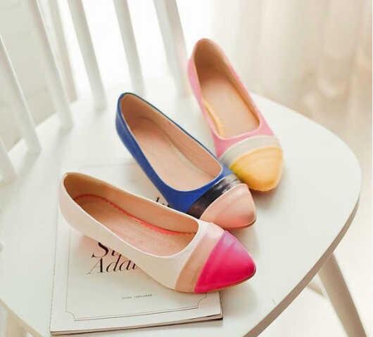 Sepatu Teplek Flat Shoes Glossy Wanita Cantik Model Terbaru & Murah