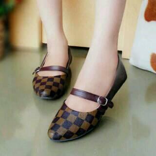 Sepatu Teplek Flat Shoes Wanita Model Terbaru & Murah