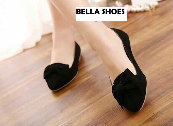 Sepatu Teplek Wanita Flat Shoes Hitam Model Terbaru & Murah